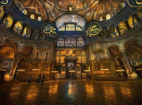 cupola di santa sofia istanbul interno della basilica di santa sofia