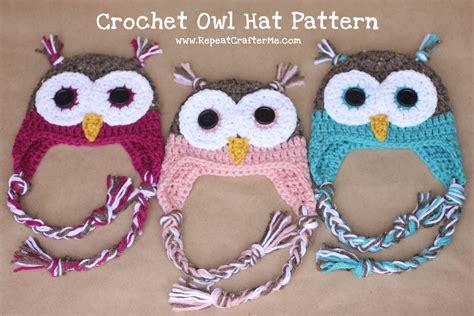 pattern crochet owl crochet owl hat pattern repeat crafter me