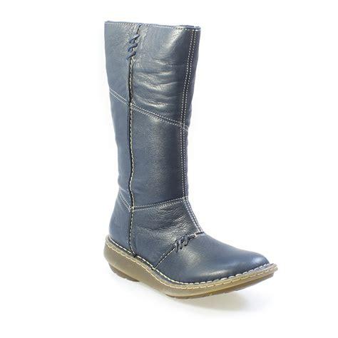 wedges boots zipper blue dr martens new authentic dress blue wedge zip calf boots