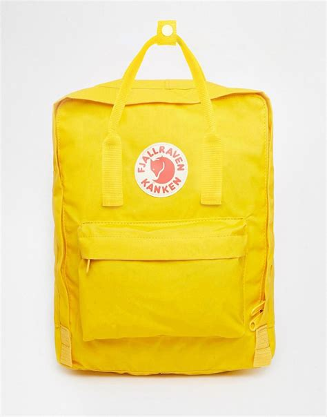 warm yellow fjallraven fjallraven kanken in warm yellow at asos