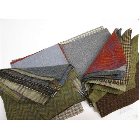 Tweed Patchwork - tweed patchwork patches 15 squares per bundle 23cm x 23cm