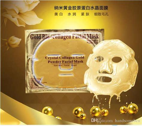 Gold Bio Collagen Mask Masker Wajah Collagen Gold gold bio collagen mask mask powder collagen whitening moisturizing anti aging
