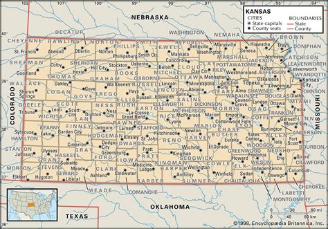 kansas county map state and county maps of kansas