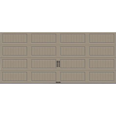 16 X 7 Insulated Garage Door Clopay Gallery Collection 16 Ft X 7 Ft 18 4 R Value Intellicore Insulated Solid Sandtone