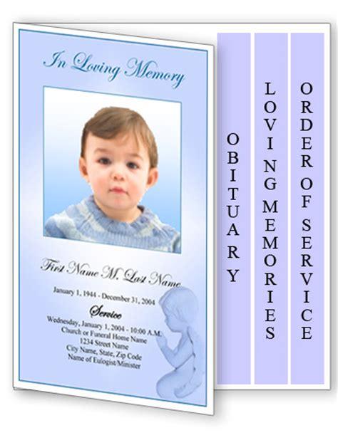 microsoft office funeral program template funeral program templates 4 page graduated blue