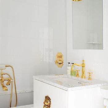 Vanity Powder Room White And Gold Bathroom Design Decor Photos Pictures