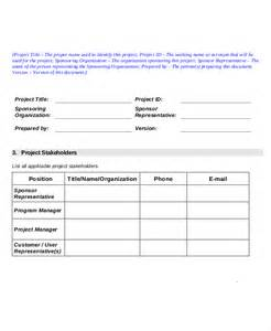project charter template pdf project charter template simple project charter template