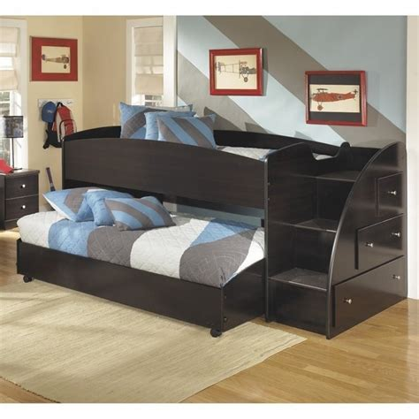 ashley loft bed ashley embrace wood twin right lower and upper loft bed in
