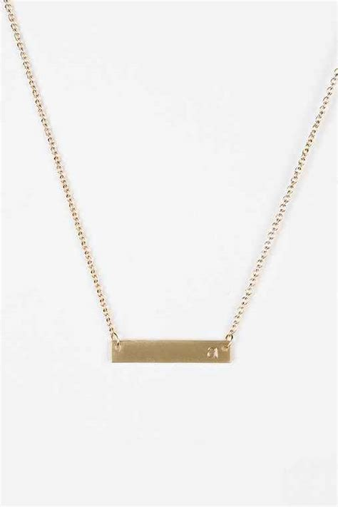 gold initial bar necklace outfitters