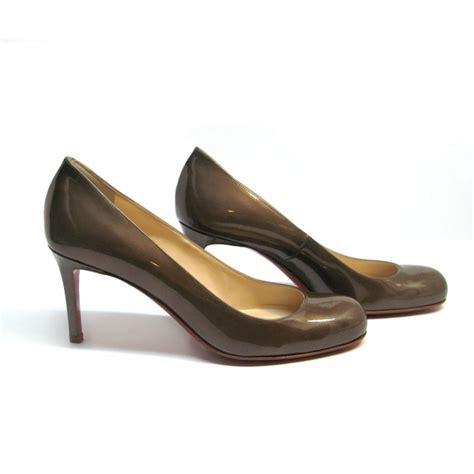 christian louboutin brown pumps the great closet