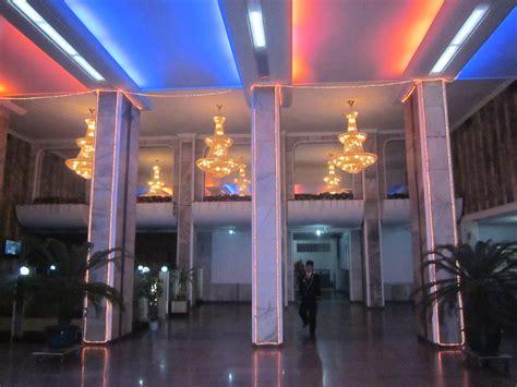 north korea pyongyang ryanggang hotel lobby  retro dec