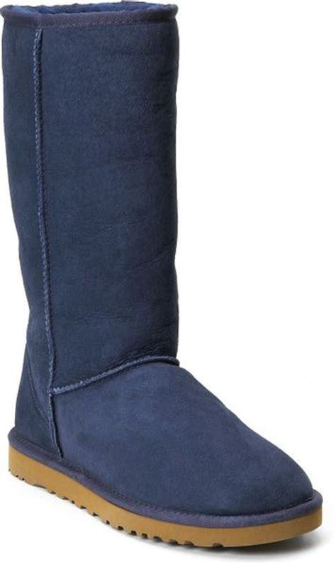 womens navy blue boots ugg womens classic boots in blue navy lyst