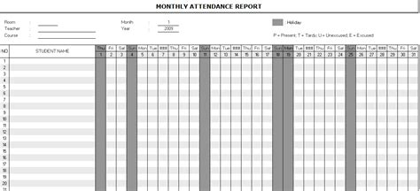 attendance report template search results for monthly attendance sheet template page