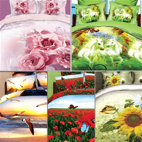 3d Bed Sheets by Buy Set Of 5 Nature S Bounty 3d Bed Sheets With 10 Pillow