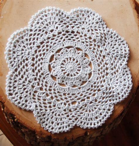8 quot handmade cotton crochet doilies white 2 pack