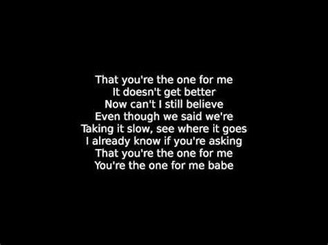 Are You The One For Me you re the one for me ben caver lyrics