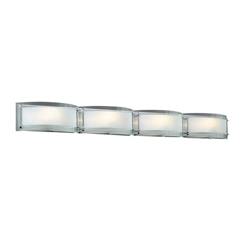 Chrome Bathroom Vanity Light Shop Plc Lighting 4 Light Millennium Polished Chrome Standard Bathroom Vanity Light At Lowes