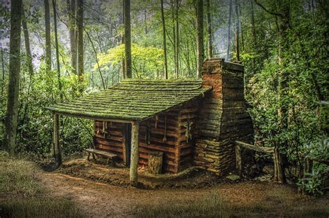 Cabin Mountains by Appalachian Mountain Cabin Photograph By Randall Nyhof