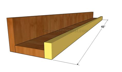 picture ledge step by step and pictures on ledge shelf plans howtospecialist how to build step by step diy plans