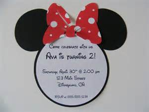 free minnie mouse birthday invitation template