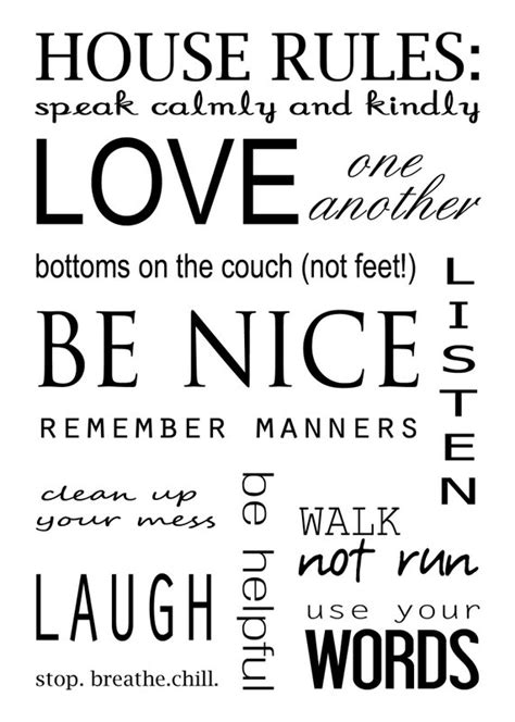house rules house rules quotes quotesgram