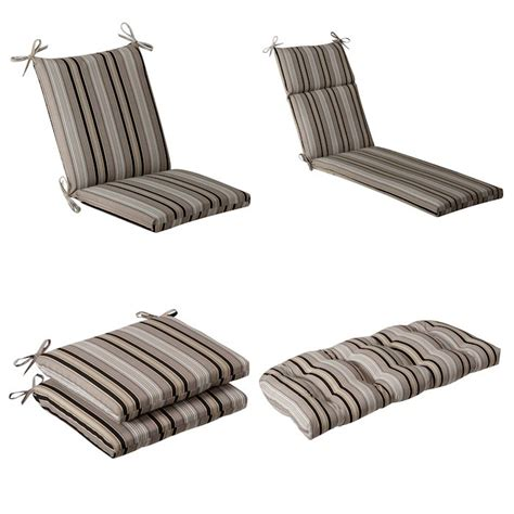Black Patio Chair Cushions Black Beige Striped Outdoor Cushion Collection Townhouse Linens