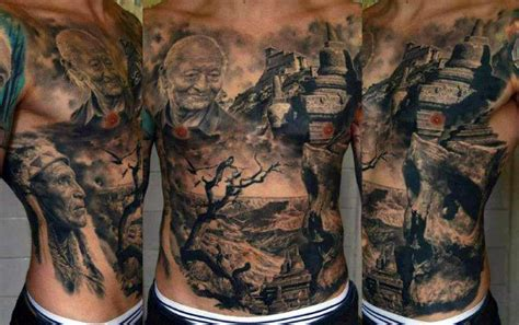 stomach tattoos men top 100 best stomach tattoos for masculine ideas