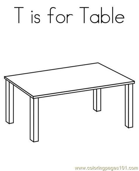 coloring table table coloring page free shapes coloring pages