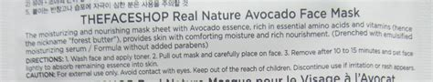 The Shop Real Nature Mask Sheet New the shop real nature mask sheet avocado review