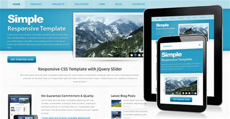 simple free corporate responsive template chocotemplates