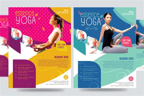 templates for yoga flyers yoga flyer fitness flyer v1 flyer templates on