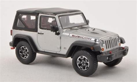 Greenlight Jeep Rubicon 1 43 Kustom jeep wrangler miniature rubicon 10th anniversary grise grise 2013 greenlight 1 43 voiture