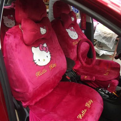 Carset 18 In Hello buy wholesale hello bow universal automobile car seat cover plush fabrics 18pcs
