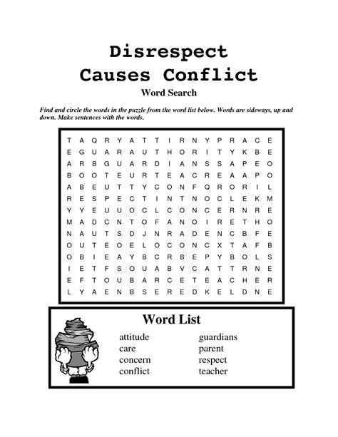 Free Printable Word Search On Respect | 8 best images of respect word search printable good
