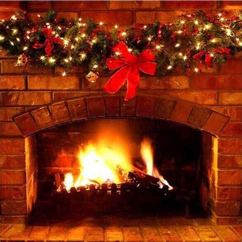 Fireplace Backdrops by 10x10ft Glitter Garland Bricks Fireplace Woods