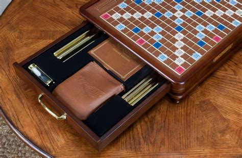 scrabble with rotating board luxury edition scrabble board seasonal specialty