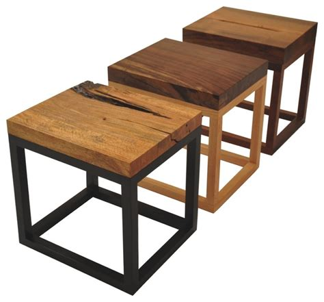 Wooden End Tables Rotsen Reclaimed Wood Side Tables Modern Side Tables And End Tables Miami By Rotsen