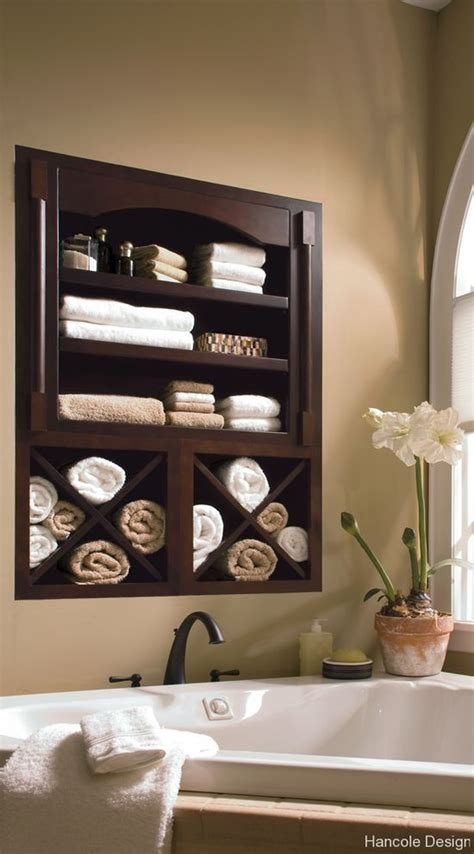 bathroom decor ideas built in bathroom wall storage