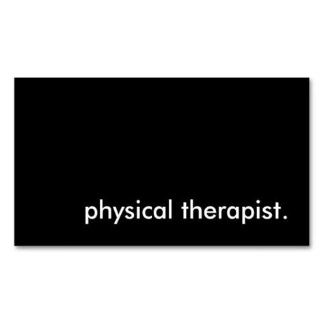 therapy business card templates 171 best images about physical therapist business cards on