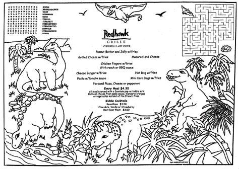 pm01 dinos childrens menus bw f restaurant menu covers