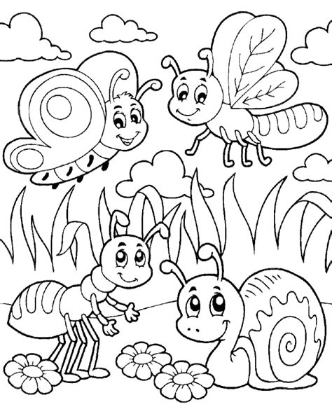insects and bugs coloring pages