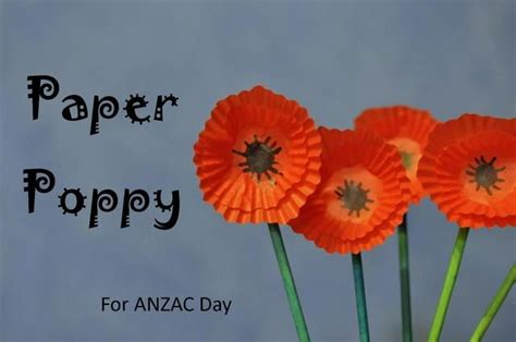 How To Make Paper Poppies - anzac day how to make a paper poppy be a