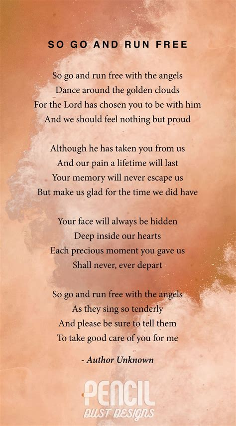 funeral poems memorial poems to read at a funeral free so go and run free a collection of semi religious funeral