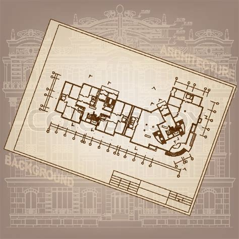 Architectural Essay by Architectural Background Part Of Architectural Project Architectural Plan Technical Project