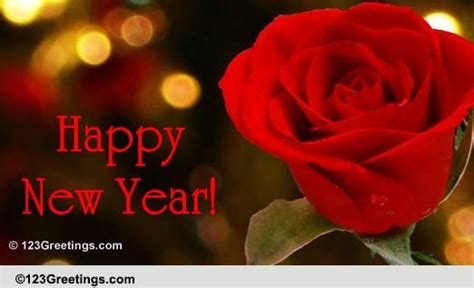 new year wishes with rose flowers a on the new year 2018 free flowers ecards greeting cards 123 greetings