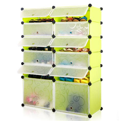 Nine Box Multi Function Shoe Rack With Dust Cover Rak Sepatu 5gr multi function shoes cabinet 6 layers 12 cubes stackable shoes rack wardrobe