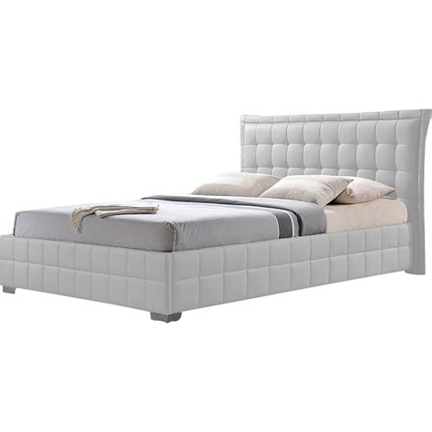 monaco platform bed bedroom set chocolate queen bedroom sets monaco faux leather platform bed tufted white dcg stores