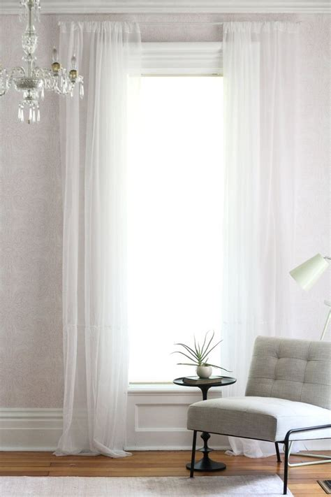 hanging sheer curtains with drapes 116 best images about window treatments on pinterest