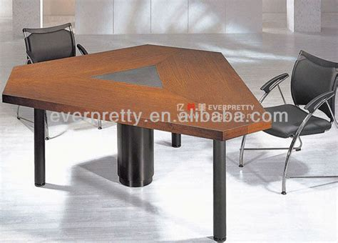 Triangle Conference Table Wooden Triangle Conference Table Small Meeting Office