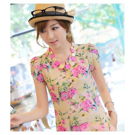 Ransel Korea Bunga Import blouse wanita korea corak bunga t1158 moro fashion